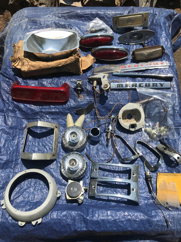 1930s 1940s 1950s Ford exterior lighting lot 33 pieces - Andrew's Automotive Archaeology