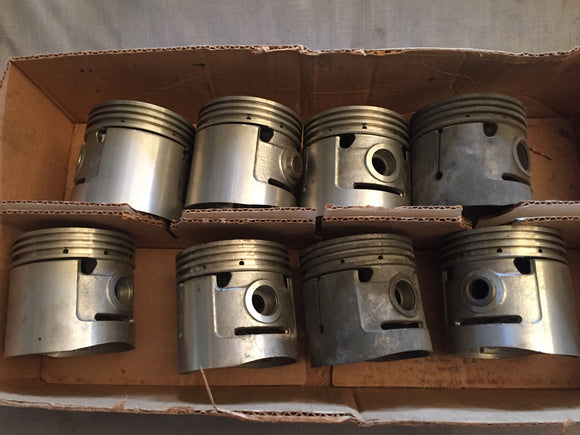 1932-1936 Ford 90 hp flathead V8 pistons 40-6108-E .040 - Andrew's Automotive Archaeology