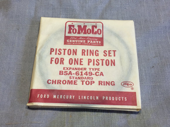 1954-1955 Ford 239 y-block V8 pistons rings STD B5A-6149-CA - Andrew's Automotive Archaeology