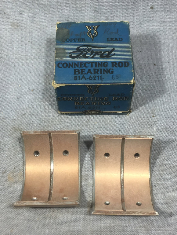 1939-1942 Ford 90 HP flathead rod bearing .010/.004 81A-6211-G5 NOS - Andrew's Automotive Archaeology
