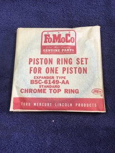 1954-1955 Ford 239 y-block V8 piston rings STD B5C-6149-AA - Andrew's Automotive Archaeology