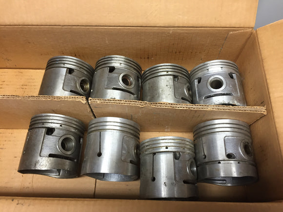 1932-1936 Ford 90 HP flathead .040 3-groove aluminum flat top pistons 40-6108-E - Andrew's Automotive Archaeology