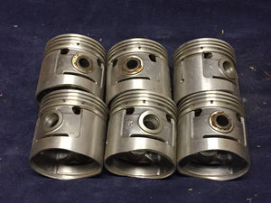 1932-1936 Ford 221 85-90 HP V8 pistons .070 40-6110 NORS x6 - Andrew's Automotive Archaeology