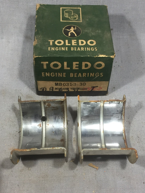 1939-1942 Ford 90 HP flathead rear main bearing .030/STD 81A-6331-T NORS - Andrew's Automotive Archaeology
