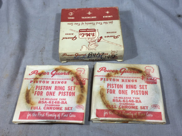 1954-1957 Ford Y-Block 272 piston ring set 2 cylinders B4AZ-6148-F STD NOS - Andrew's Automotive Archaeology