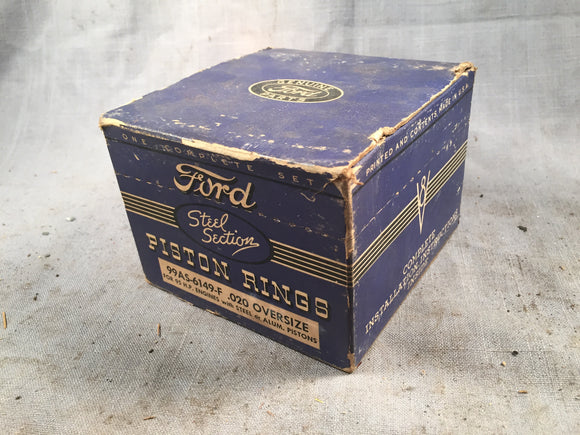 1939-1941 Ford 100 HP flathead piston rings .020 99AS-6149-F - Andrew's Automotive Archaeology