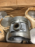 1932-1936 Ford 90 HP flathead .040 oversize 3-groove aluminum flat top pistons - Andrew's Automotive Archaeology