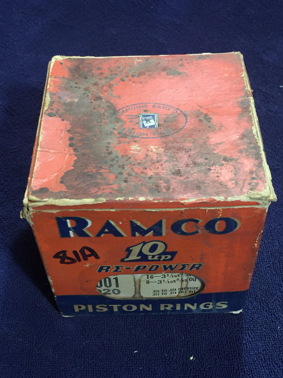 1932-1942 Ford flathead 90 HP 221 V8 piston rings .020 81A-6149-H - Andrew's Automotive Archaeology