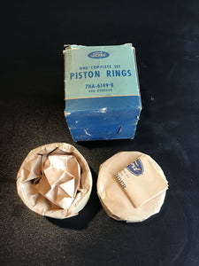 1947-1951 Ford 226 H engine straight put six piston rings .020 7HA-6149-B NOS - Andrew's Automotive Archaeology
