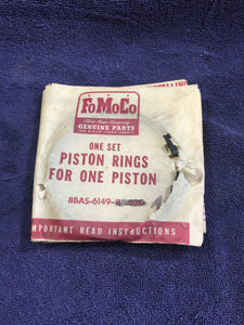 1939-1953 Ford flathead 100 HP 239 V8 pistons rings STD 8BA-6148-A NOS - Andrew's Automotive Archaeology