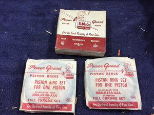 1958-1959 Ford 332 352 FE V8 piston rings STD B8A-6148-A NOS - Andrew's Automotive Archaeology