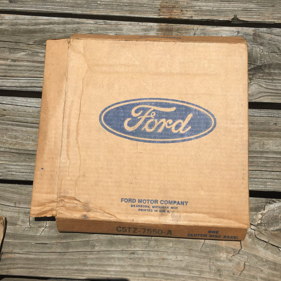 1963-1971 Ford Galaxie HD 3-spd clutch disc C5TZ-7550-A NOS - Andrew's Automotive Archaeology