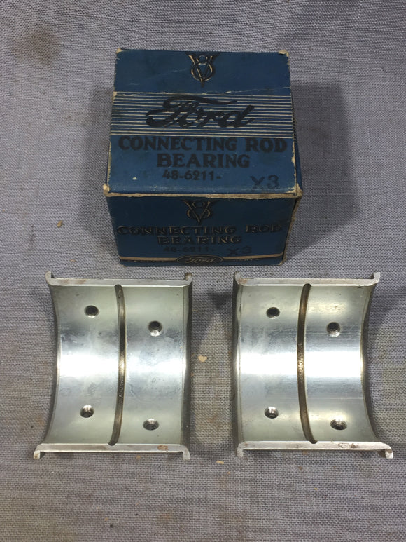 1932-1938 Ford 90 HP flathead rod bearing .002 48-6211-X NOS - Andrew's Automotive Archaeology