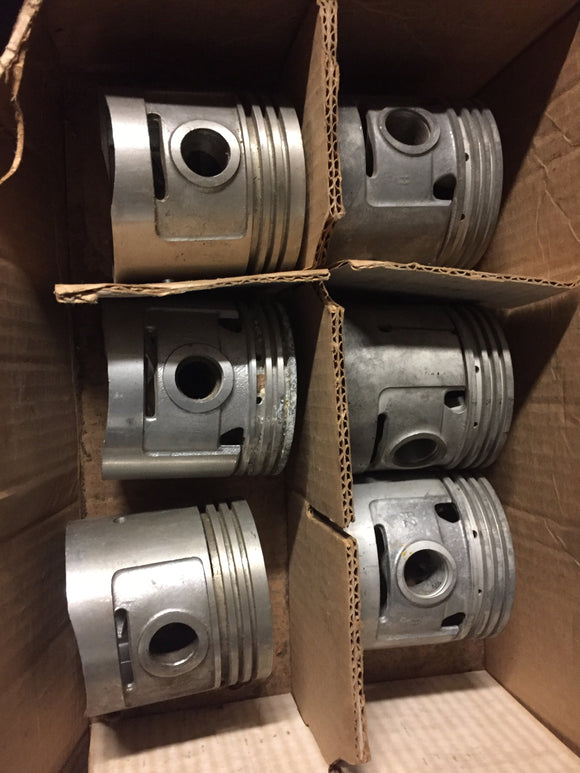 1932-1936 Ford 90 HP flathead .045 3-groove aluminum flat top pistons 40-6108 - Andrew's Automotive Archaeology
