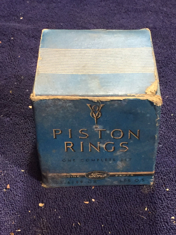 1932-1942 Ford flathead V8-60 piston rings .005 52-6149-CR NOS - Andrew's Automotive Archaeology