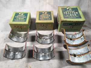 1941 and up Ford 9N tractor main bearing set .012 9N-6331 6333 - Andrew's Automotive Archaeology