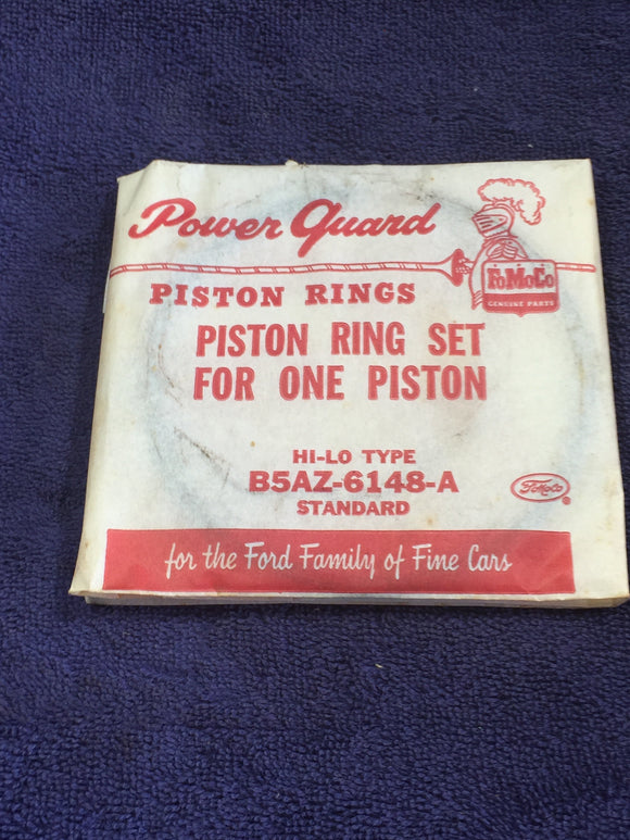 1955-1960 Ford 292 Y-block piston rings STD B5AZ-6149-A NOS - Andrew's Automotive Archaeology