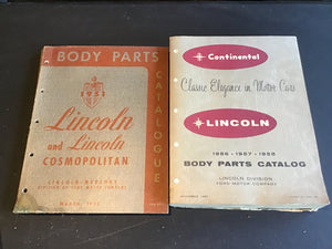 1952 and 1956-1958 Lincoln Body Parts Catalog - Andrew's Automotive Archaeology