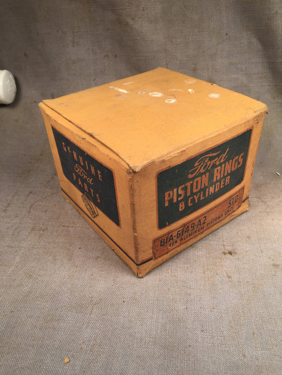 1932-1942 Ford 90 HP flathead expander piston rings STD 81A-6149-A NOS - Andrew's Automotive Archaeology