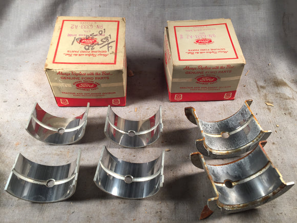 1939-1952 Ford 2N 8N 9N tractor main bearings STD 9N-6331-A2 6333-A2 - Andrew's Automotive Archaeology