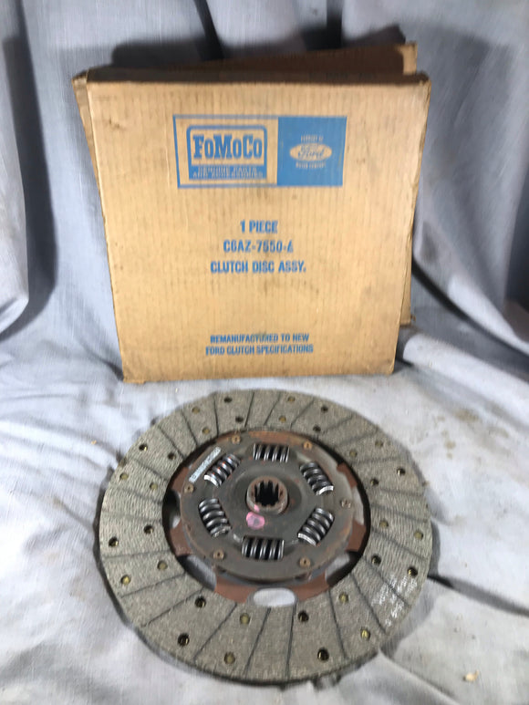 1965-1970 Ford Galaxie 390 352 clutch disk C6AZ-7550-E NOS - Andrew's Automotive Archaeology