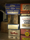 1930s 1940s Ford Chevrolet Chrysler flathead V8 L6 piston ring lot of 18 sets - Andrew's Automotive Archaeology