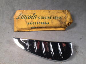 1954 Lincoln RH front door panel chrome ornament BR-7320988-A NOS - Andrew's Automotive Archaeology