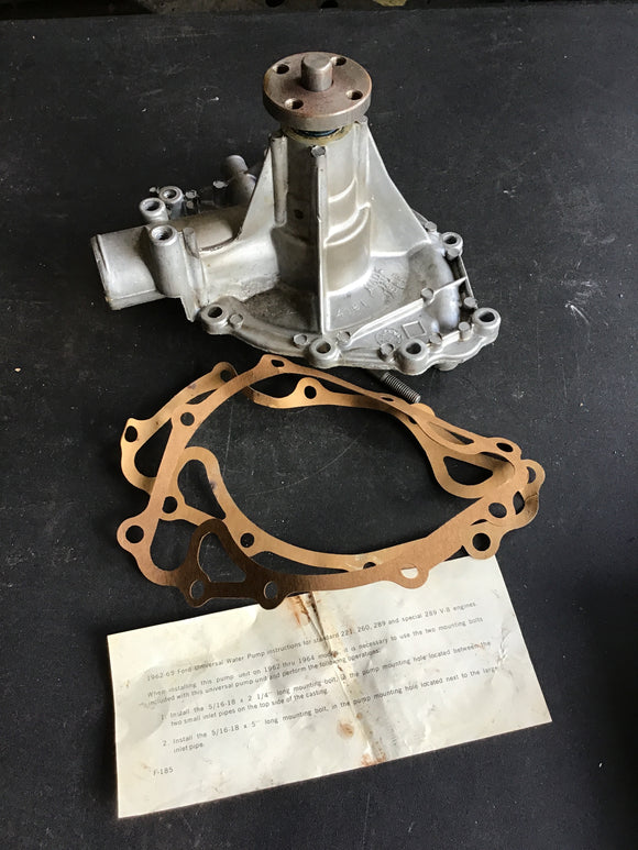 1963-1964 Ford Mercury Comet Falcon rebuilt water pump - Andrew's Automotive Archaeology