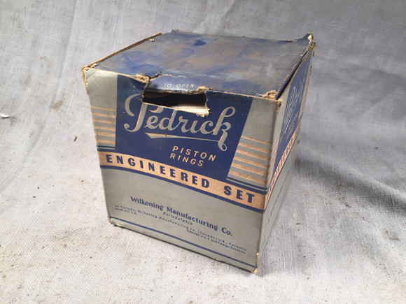 1934-1941 Ford flathead 221 85 90 HP piston ring set .009 NORS - Andrew's Automotive Archaeology