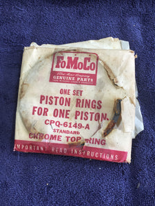 1952-1955 Ford Lincoln 317 y-block V8 piston rings STD CPQ-6149-A - Andrew's Automotive Archaeology