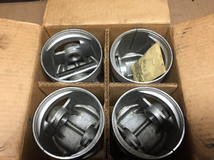 Ford 4-cylinder 1928-1934 3-groove NOS aluminum pistons .040 BB-6108 - Andrew's Automotive Archaeology