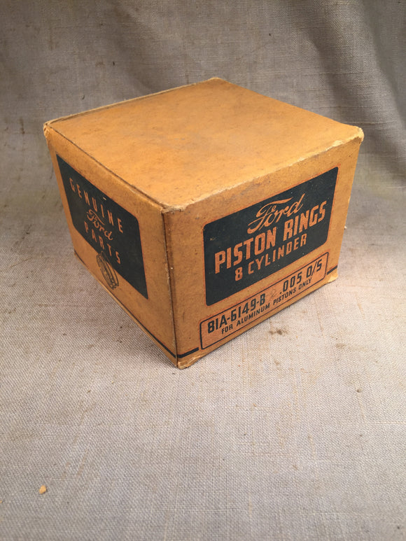 1932-1942 Ford 90 HP flathead expander piston rings .005 81A-6149-B NOS - Andrew's Automotive Archaeology