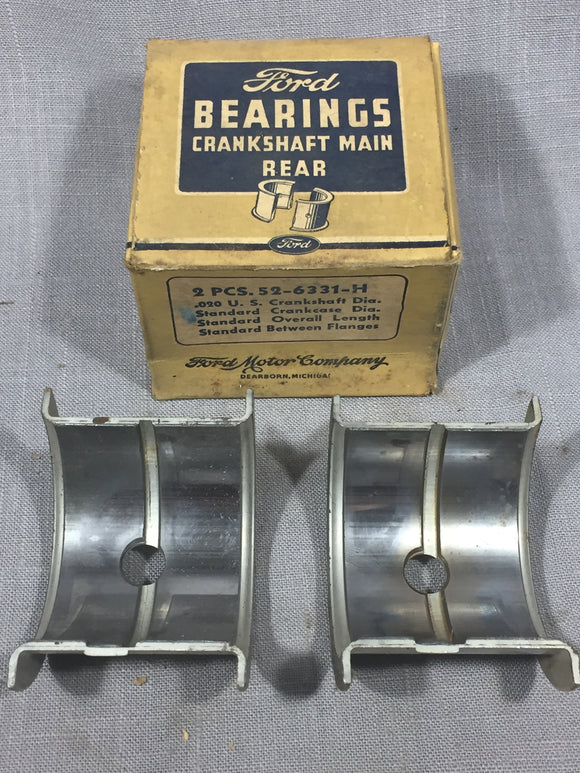1937-1939 Ford 60 HP flathead rear main bearing .020/STD 52-6331-H NOS - Andrew's Automotive Archaeology