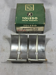 1936-1938 Ford 90 HP flathead front/center main bearing .030/STD 68-6333 NORS - Andrew's Automotive Archaeology