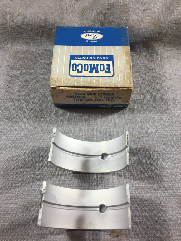 1952-1961 Ford six-cylinder 215 223 rear main bearing STD Blue EAG-6331-H NOS - Andrew's Automotive Archaeology