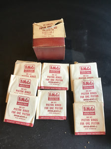 1949-1951 Lincoln 337 flathead piston rings 8EL-6149-J .040 NOS - Andrew's Automotive Archaeology