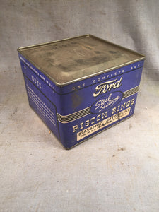 1937-1940 Ford 60 HP flathead steel section type piston rings .045 82AS-6149-C N - Andrew's Automotive Archaeology