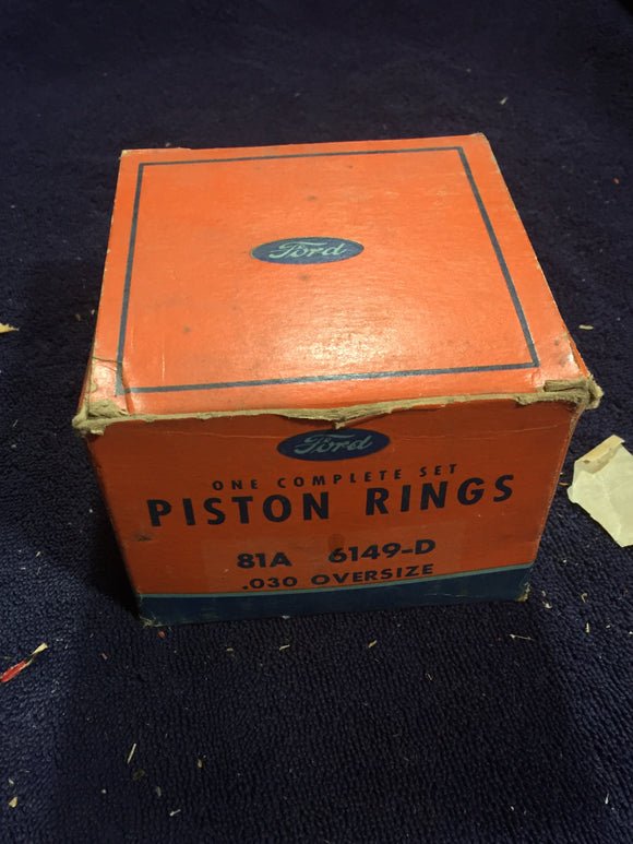 1932-1942 Ford flathead 90 HP 221 V8 piston rings .030 81A-6149-D - Andrew's Automotive Archaeology
