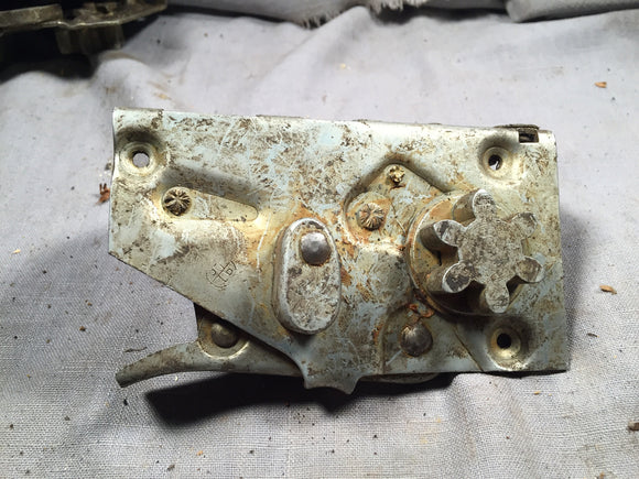 1950-1951 Ford LH front door latch 0A-7021813 - Andrew's Automotive Archaeology