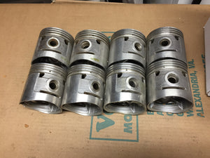 1932-1936 Ford 90 HP flathead .030 3-groove aluminum flat top pistons 40-6108-D - Andrew's Automotive Archaeology
