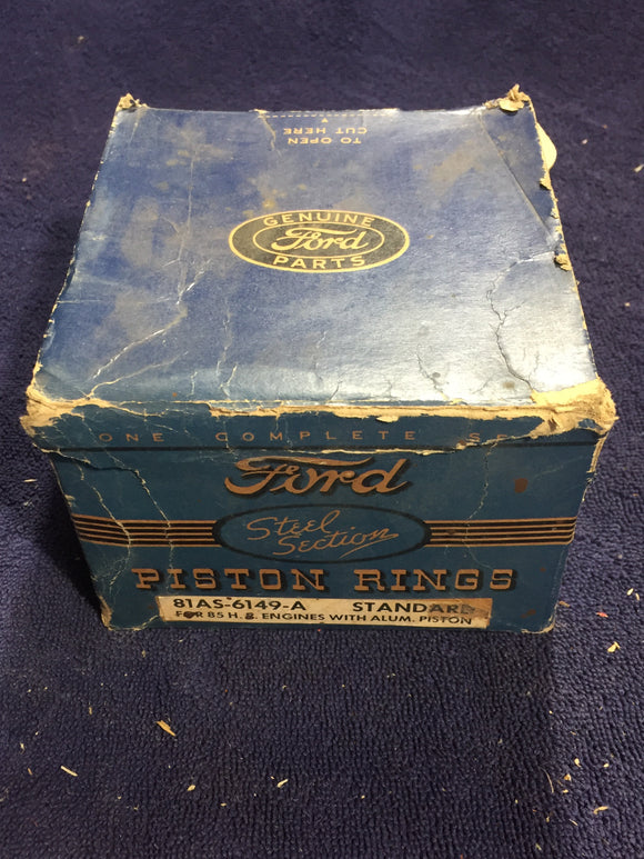 1932-1942 Ford flathead 90 HP 221 V8 piston rings STD 81AS-6149-A - Andrew's Automotive Archaeology