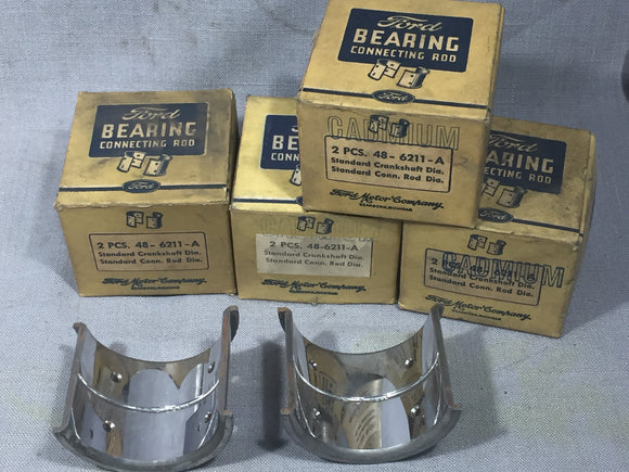 1932-1938 Ford 90 HP flathead rod bearing set STD 48-6211-A NOS - Andrew's Automotive Archaeology