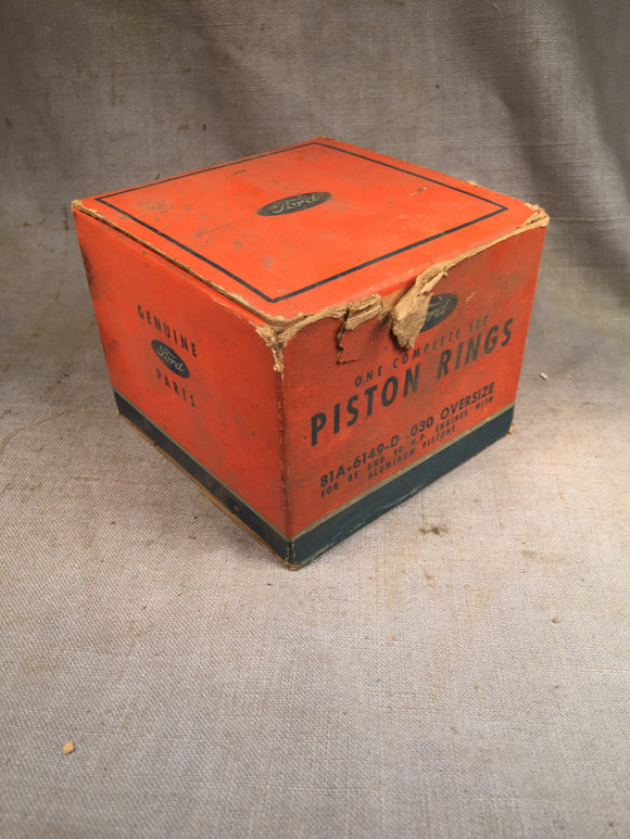 1932-1942 Ford 90 HP flathead expander piston rings .030 81A-6149-D NOS - Andrew's Automotive Archaeology