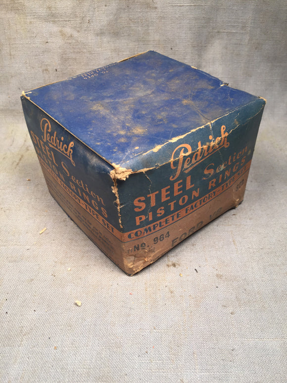 1932-1942 Ford 85-90 HP flathead piston rings steel pistons STD 81A-6149-A NORS - Andrew's Automotive Archaeology