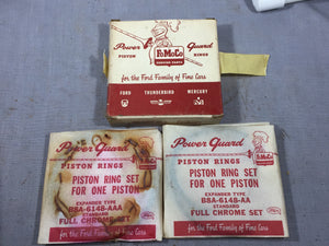 1958-1960 Ford 332 352 FE piston ring set 2 cylinders B8A-6148-AA STD - Andrew's Automotive Archaeology