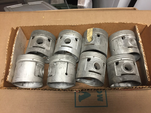 1932-1936 Ford 90 HP flathead .040 oversize 3-groove aluminum flat top pistons 4 - Andrew's Automotive Archaeology