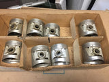 1932-1936 Ford 90 HP flathead .005 3-groove aluminum flat top pistons 40-6110 NO - Andrew's Automotive Archaeology