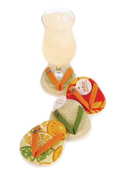 Paradise ATTACHABLE COASTERS, Set of 4
