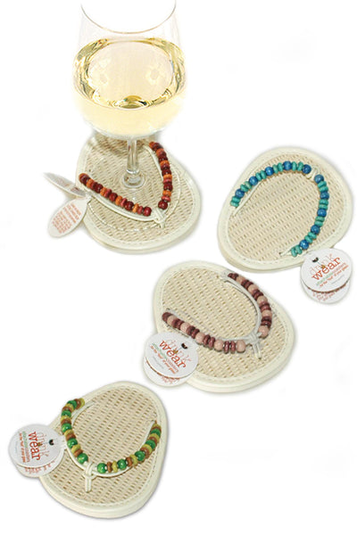 Naturals, ATTACHABLE COASTERS, Set of 4