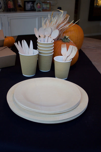 Natural Bamboo place setting set-